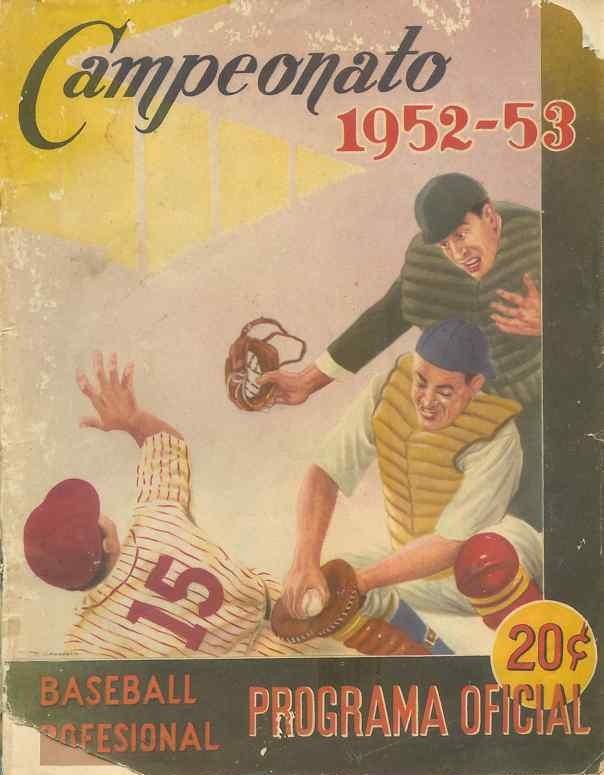1952-53-Cuba-Baseball-Programa-Official