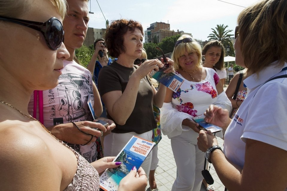 rusos turistas