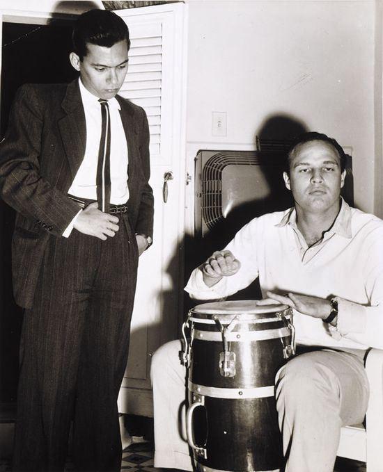 Guillermo CAbrera Infante. con marlon brando