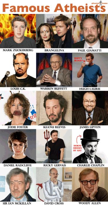 ateos famosos