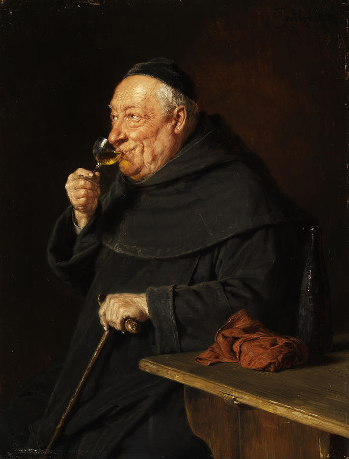 monk-with-a-wine-eduard-von-grutzner