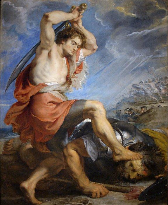 rey david corazon dios biblia goliat rubens