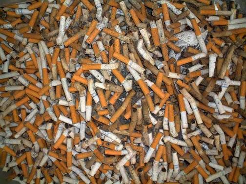 colillas de cigarro tupamaru